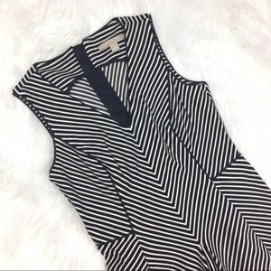 Banana Republic Dresses - Banana Republic Black White Stripe Fit Flare Dress